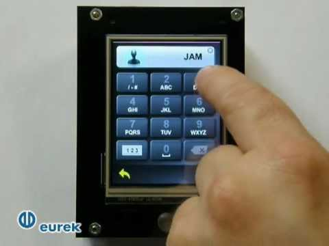Custom application example: STM32 touch-screen module