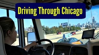 She's driving the RV through Chicago. [North American Road Trip #12]