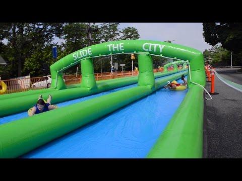 1,000 foot slip-and-slide in N.J. street