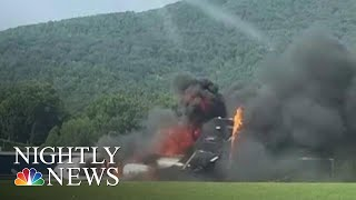 Dale Earnhardt Jr. And Family Survive Plane Crash At Tennessee Airport | NBC Nightly News
