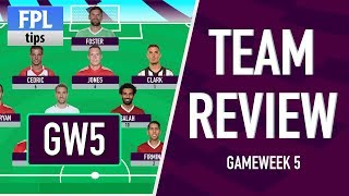 GAMEWEEK 5: TEAM REVIEW | Lukaku & Mkhitaryan Seal Man Utd Win! | Fantasy Premier League 2017/18