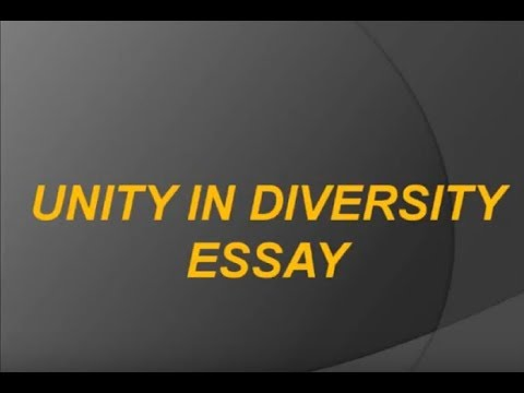 In An Essay What Is A Thesis Statement Short Essay On Unity In Diversity For School Children  High School Essays About English Language also Examples Of A Proposal Essay Short Essay On Unity In Diversity For School Children  High School  Global Warming Essay In English