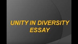 Short Essay on Unity In Diversity For School Children - High School