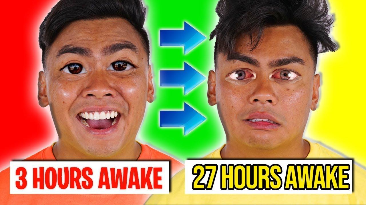 3 Hours Awake VS 27 Hours Awake ~ Challenge