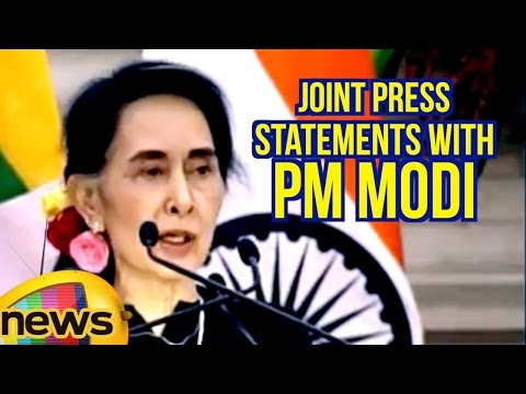 Myanmar State Counsellor Daw Aung San Suu Kyi Speech At Joint Press Statements With PM Modi