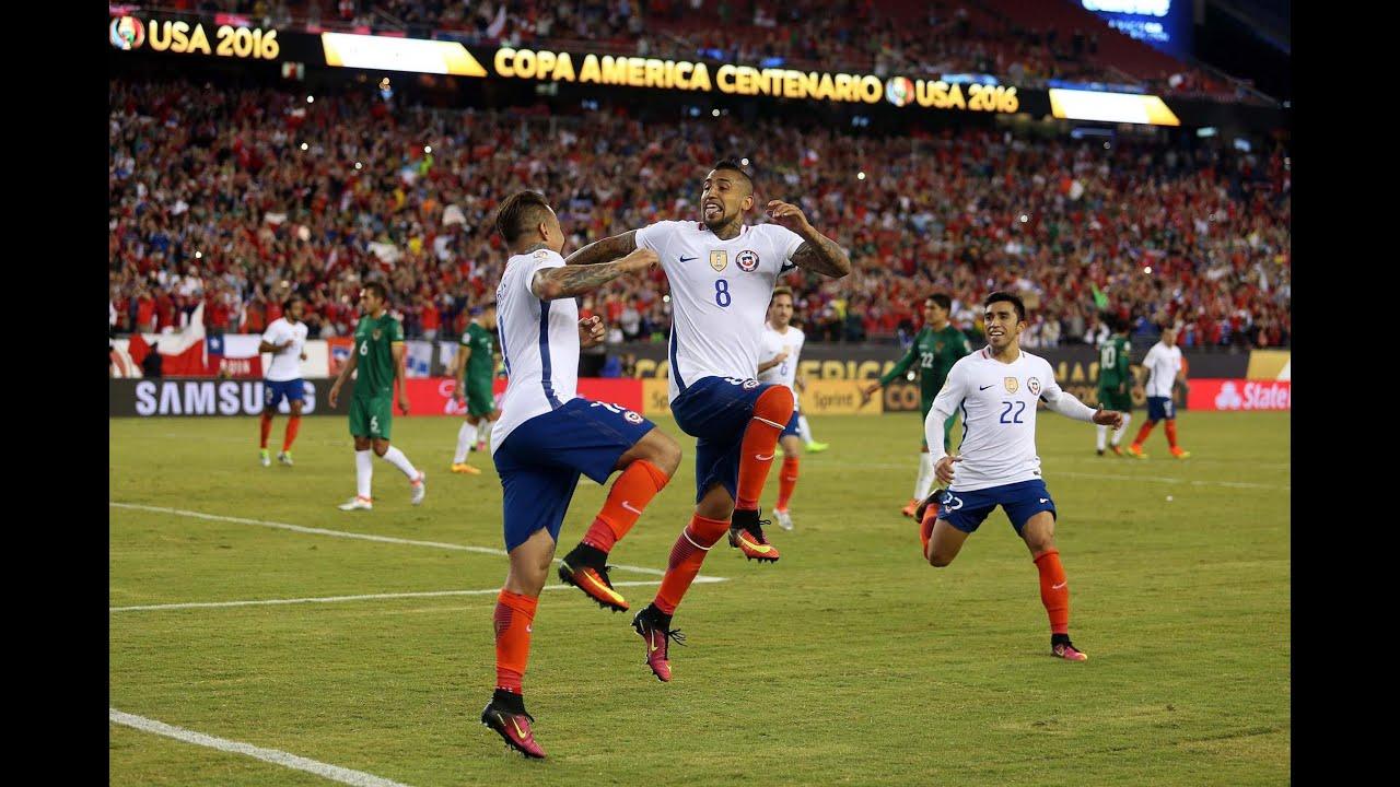 Chile 2 - 1 Bolivia | Copa América Centenario 2016 | Claudio Palma - YouTube