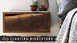 DIY Floating Nightstands With Storage Drawer