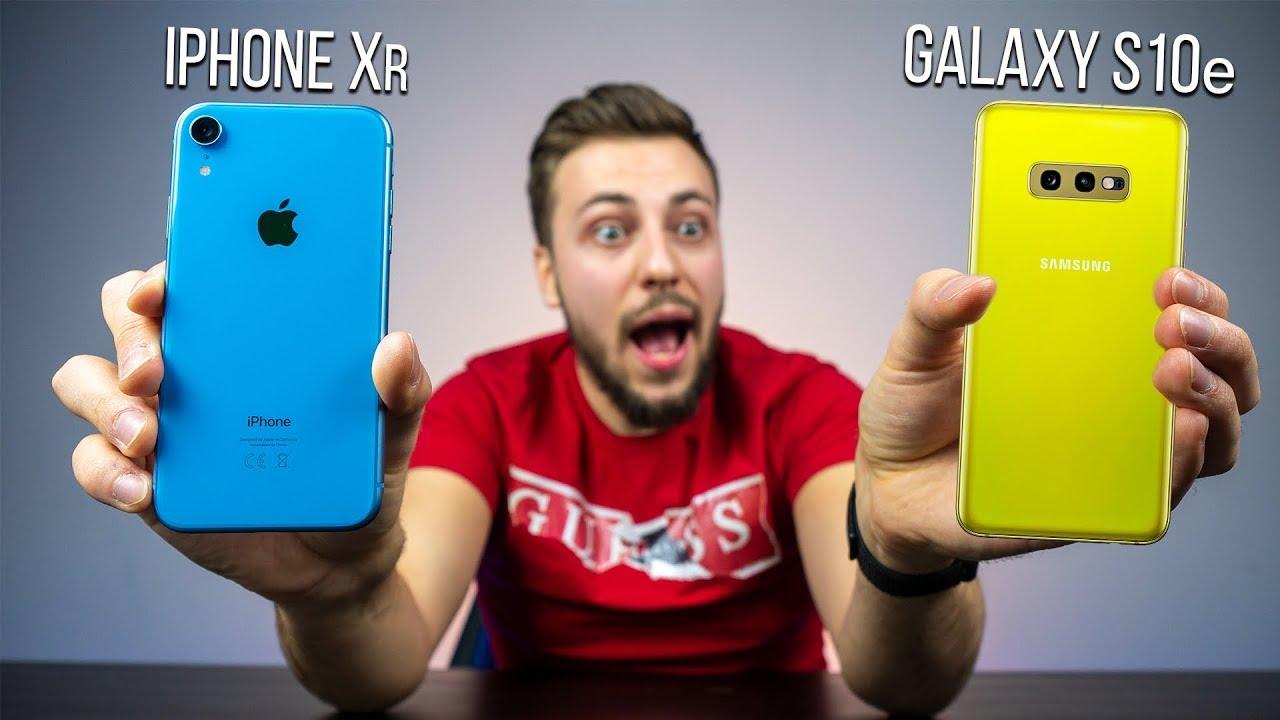 Galaxy S10e MIAŻDŻY iPhone Xr * PORÓWNANIE *