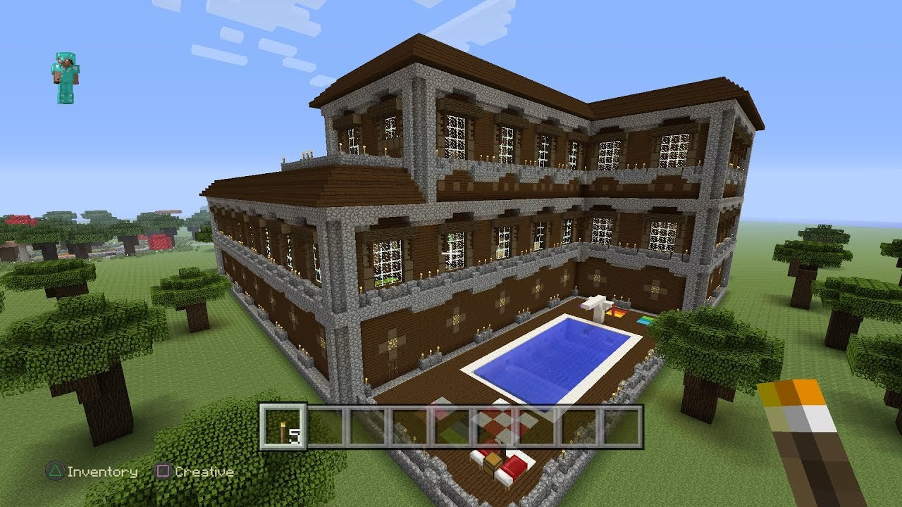 Minecraft Ps4 - Redstone Woodland Mansion Preview  0229  Live Broadcast