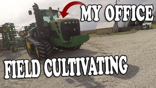 Spring Field CULTIVATING 2018 - John Deere 9630T and 2210 FIELD Cultivator