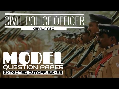 Police Constable Model Question Paper With Expected Cutoff
