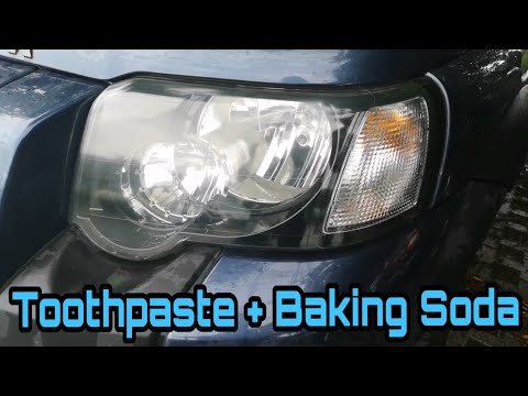 How to Clean your Headlights- With Toothpaste & Baking Soda