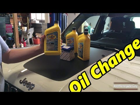 Jeep Renegade Engine oil Change Complete How To Tutorial for 1.4 Turbo Fiat 500L 500X Dodge Dart