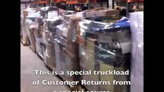 Start your own Liquidation Store with Returns By The Truckload, This is how a load looks.