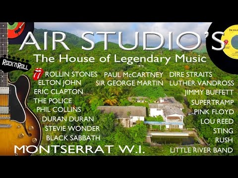 Air Studio's Montserrat ~ House of Legendary Music ~ UAV Drone Caribbean ~ WeBeYachting.com