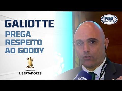 "GALIOTTE PREGA RESPEITO AO GODOY: ""TODO JOGO DE LIBERTADORES É DIFÍCIL"""