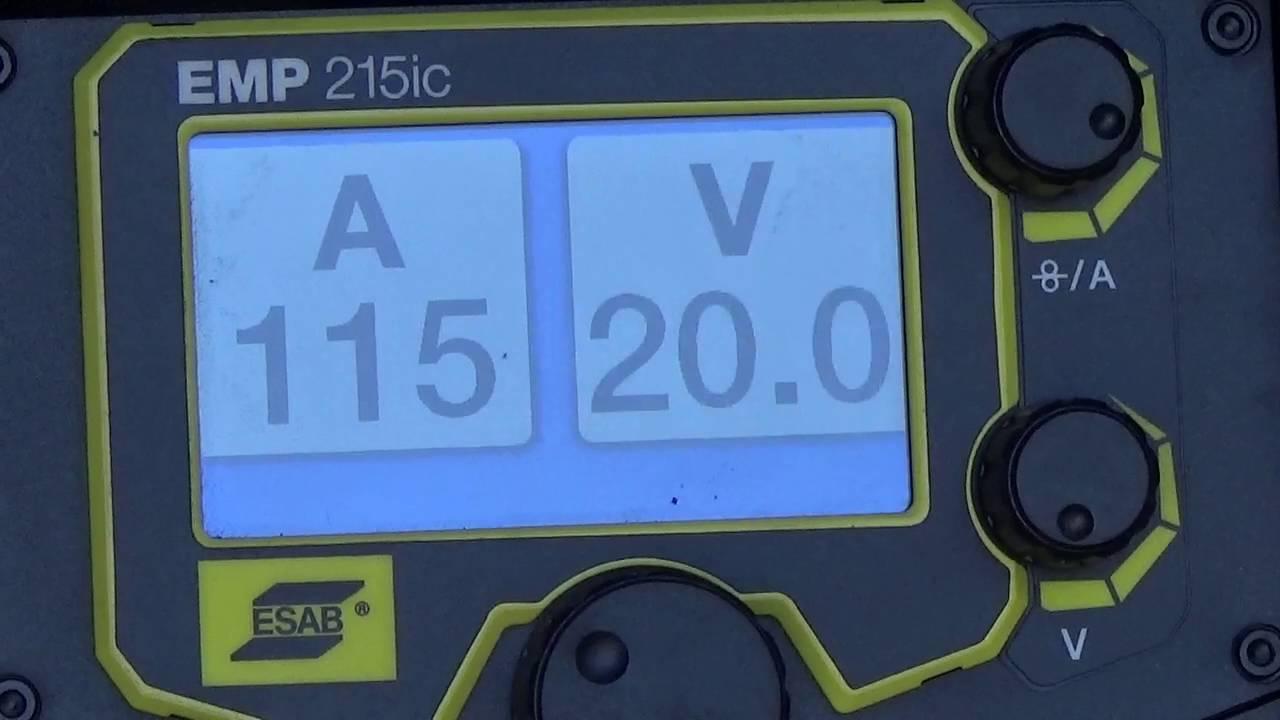 Esab Rebel EMP 215ic Welder - sMIG Welding 1
