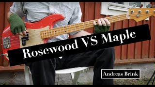 Rosewood vs maple fretboard on bass: Is there a sound difference?