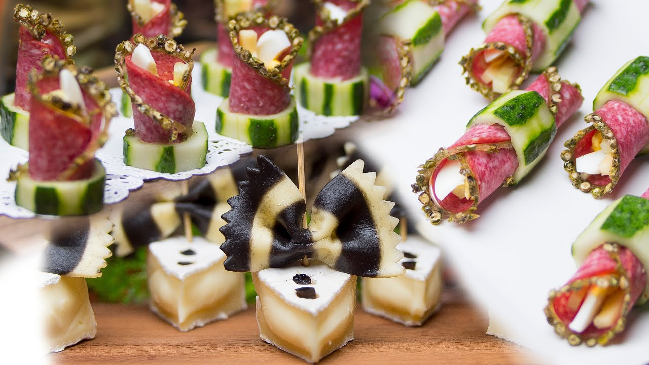 Serowe muszki oraz salami w ogórkowym pierścieniu - proste i smaczne przekąski