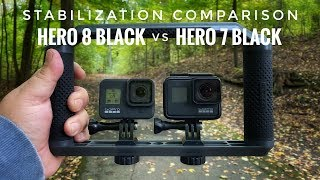 GoPro Hero 8 Black versus Hero 7 Black Stabilization Comparison