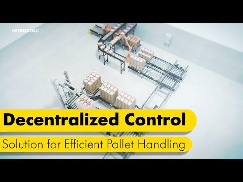 Decentralized Control Solution for Efficient Pallet Handling