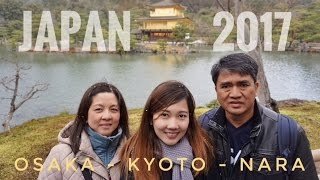 Japan 2017: 5 day trip to Osaka, Kyoto & Nara (Videos only-WATCH IN HD)