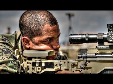 U.S. Marines Snipers In Sniper Range