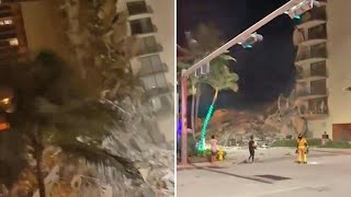 video: Watch: At least 99 missing after Miami building collapses