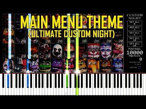 Main Menu Music (Eisoptrophobia) - FNAF Ultimate Custom Night [Synthesia Piano Tutorial] thumbnail