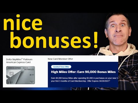 Download NEW! BIG Bonuses on Delta SkyMiles Credit Cards! Up to 90K Miles!