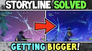 Why The CRACK / RIFT is Getting *BIGGER* Every Hour! - Fortnite Season 5 Storyline Explained (STORY)