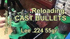 Reloading .223 Remington with Lee .224 Cast Bullet 55gr Mold and Shooting Test