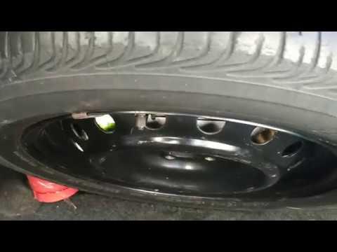 Установка запасного колеса (запаски) с ГБО в Toyota Corolla E150