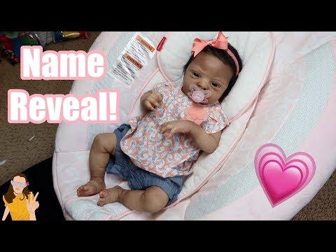 Reborn Baby NAME REVEAL + Changing! | Kelli Maple