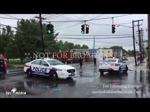 Huntington, Long Island NY Flash Flooding / Emergency Personnel 8-18-2017