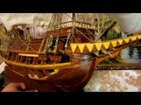 Корабль галеон Сан Джованни Батиста Автор : Плахотник Н.М.(1951-2016)