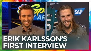 Erik Karlsson's first interivew with the San Jose Sharks