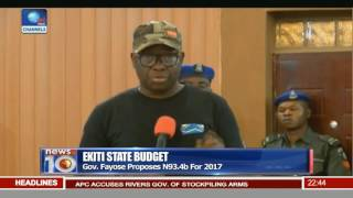 Ekiti State Budget: Gov Fayose Proposes N93.4b For 2017