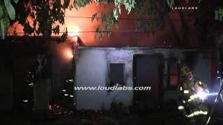 Man Found Dead in Converted Garage Fire / Van Nuys   RAW FOOTAGE