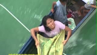 bajau sea gypsies risk lives race ship for coins philippines