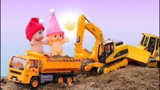 Construction Vehicles For Toddlers - Construction Equipment Bulldozers Dump Trucks Excavators