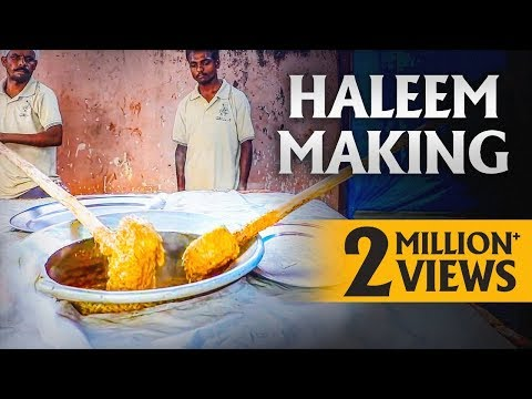 Haleem Making Complete Process | Best Ramzan Food in Hyderabad | Haleem at Grill 9