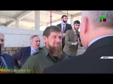 Рамзан Кадыров и Сергей Чеботарев посетили стройплощадку школы в городе Аргуне