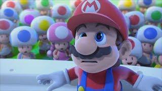 Mario + Rabbids Kingdom Battle Walkthrough Part 1 - Intro + World 1-1, World 1-2 & Peach's Castle thumbnail