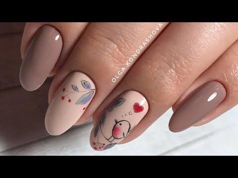 Дизайн покрытие ногтей гелем