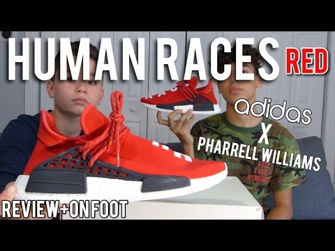 "adidas-nmd-x-pharrell-nmd-human-race-""red""-(review+on-foot)"