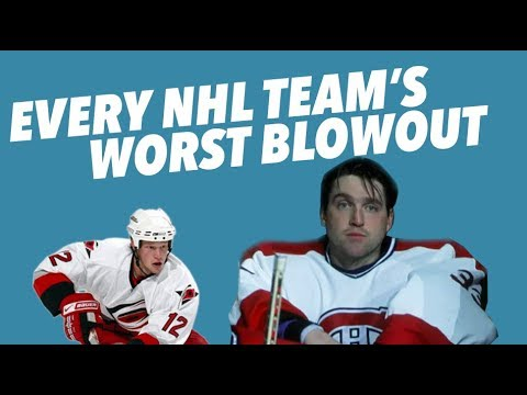 Every NHL Team's WORST BLOWOUT LOSS - Crazy Stats and Sadness