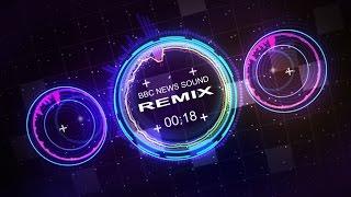 Countdown Timer 1 min ( v 505 ) BBC News Theme Equalizer Remix1 - Music Visualizer - effects 4k!