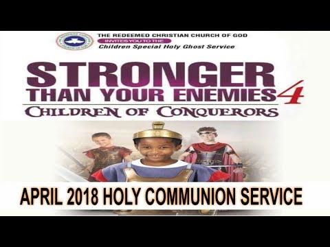 RCCG April 2018 HOLY COMMUNION SERVICE