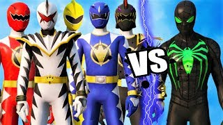 POWER RANGERS (DINO THUNDER) vs GREEN SPIDER-MAN (Anti Ock Suit)